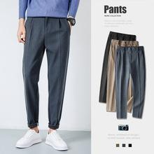 冬季男士裤子2020新款日系宽松毛呢休闲裤时尚休闲呢料厚款小西裤