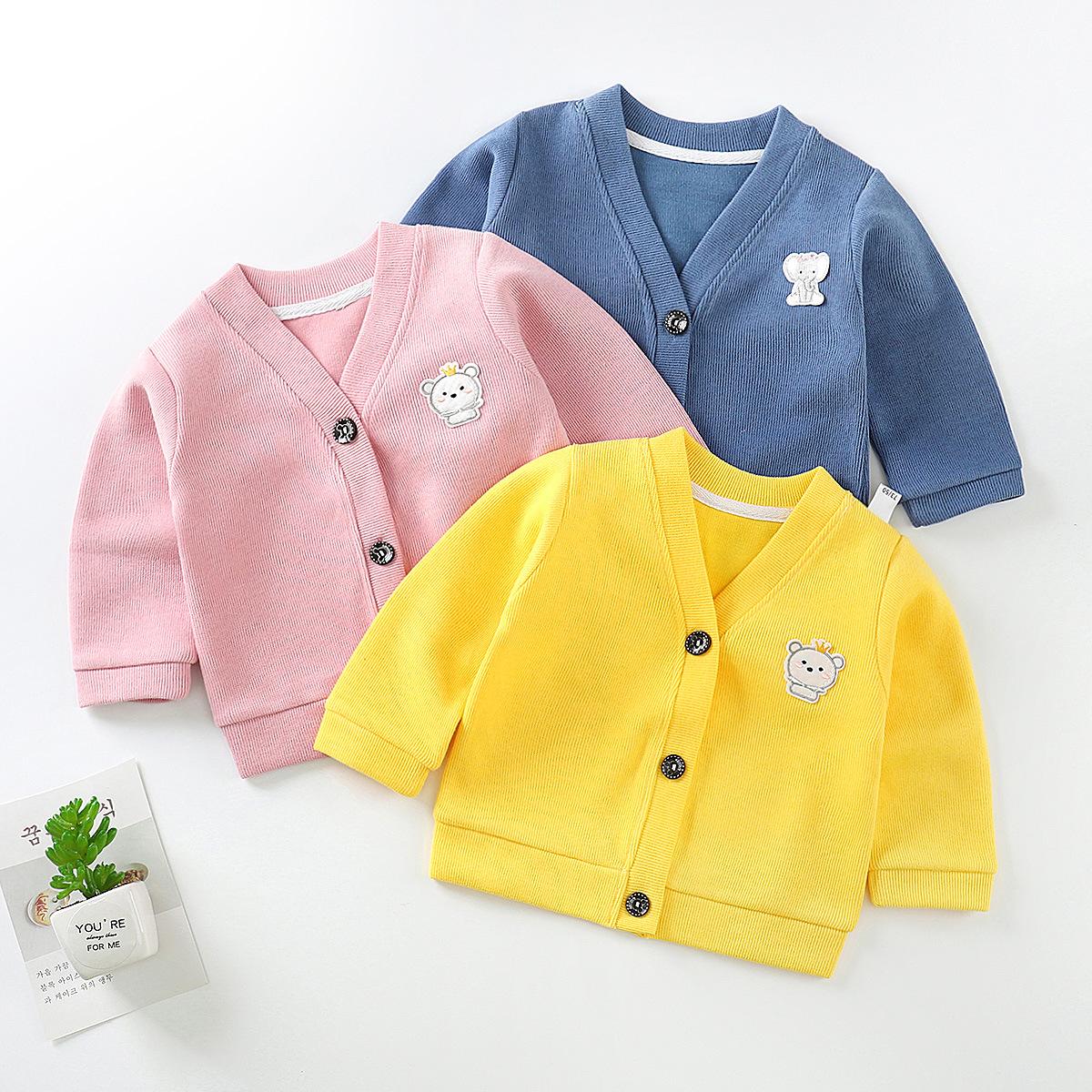 婴儿针织衫开衫外套婴幼儿服饰女童男宝宝儿童秋冬季外套童装毛衣
