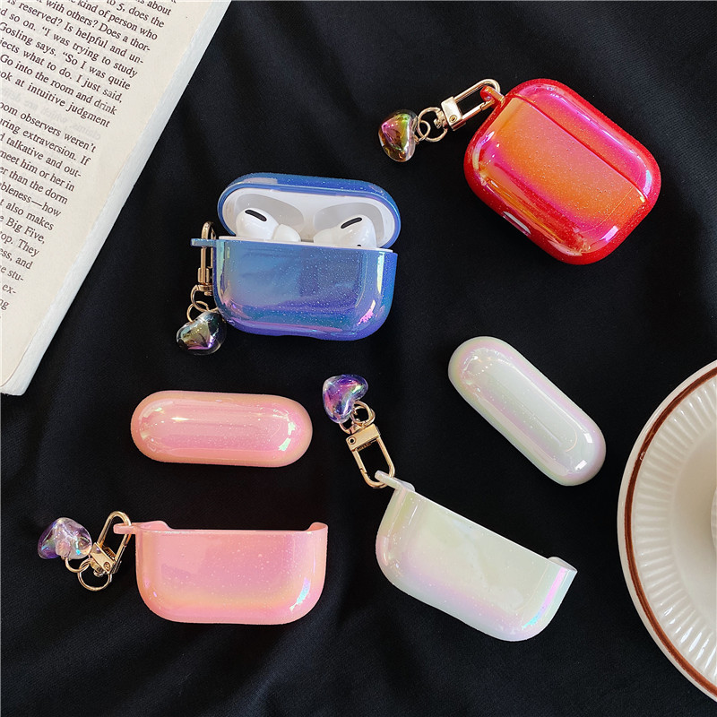 Symphony of water drops love pendant protection hard shell for Apple Airpods Pro1/2 generation wireless Bluetooth headset wholesale nihaojewelry NHFI220722