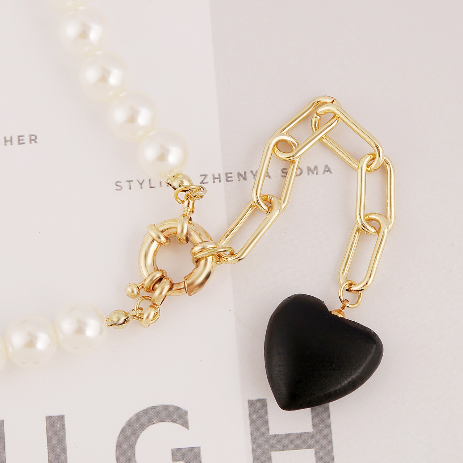 New Fashion Pearl Chain Pendant Bracelet Necklace Set Wholesale NHJJ204711