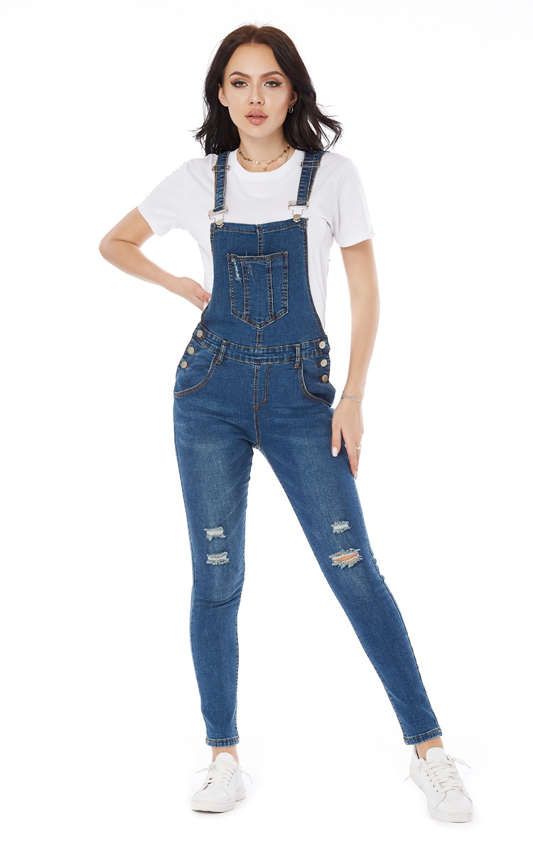 loose plus size jeans overalls NSSY9480
