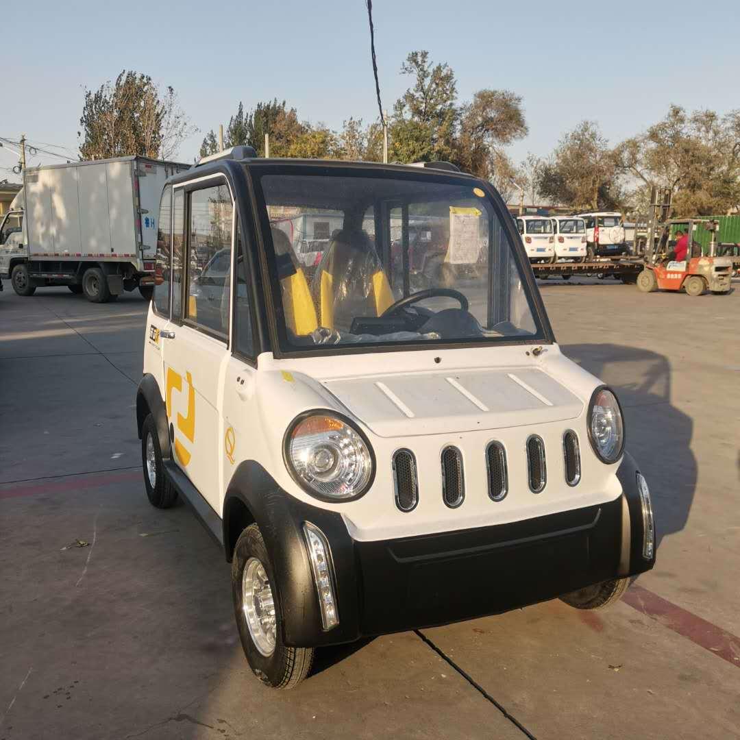 新能源全封闭式成人电动四轮车 家用客运小客车 老年代步电动车