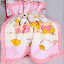 秋冬季婴儿毛毯双层加厚儿童小毛毯幼儿园盖毯宝宝被子新生儿礼盒