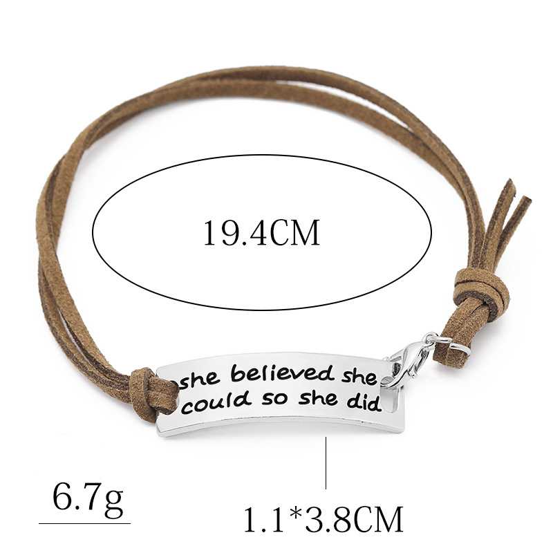 New English letters She believed shecould so she did bracelet wholesale NHMO209148