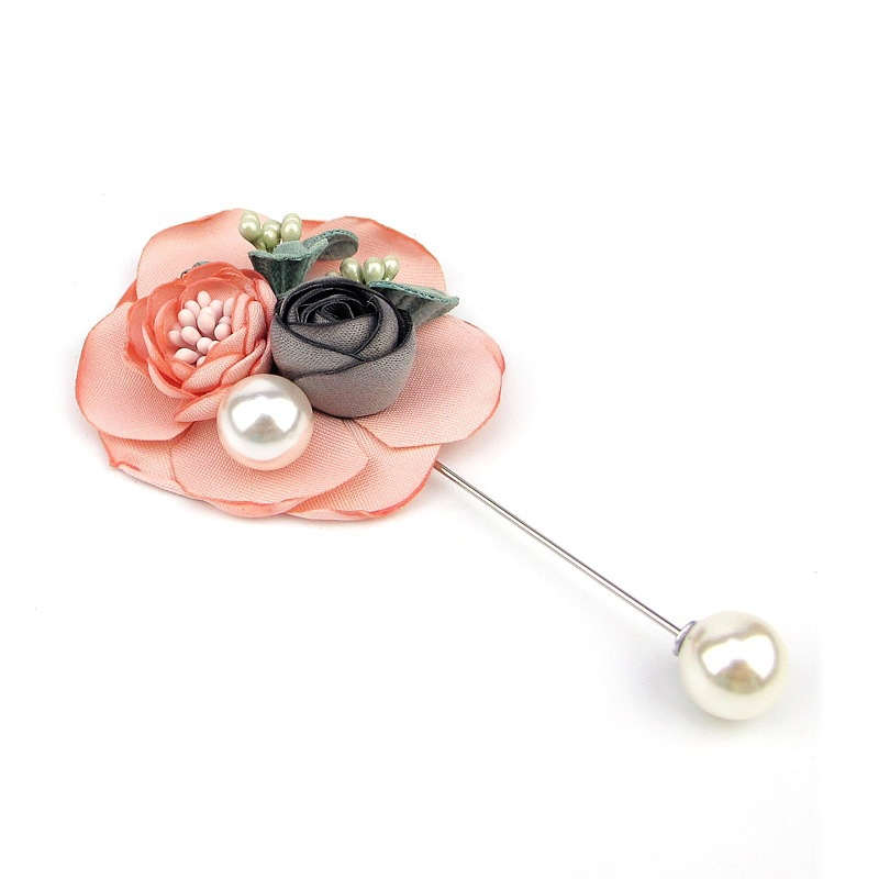 Fashion yarn rose crystal brooch dress suit brooch brooch for men and women NHJJ200387