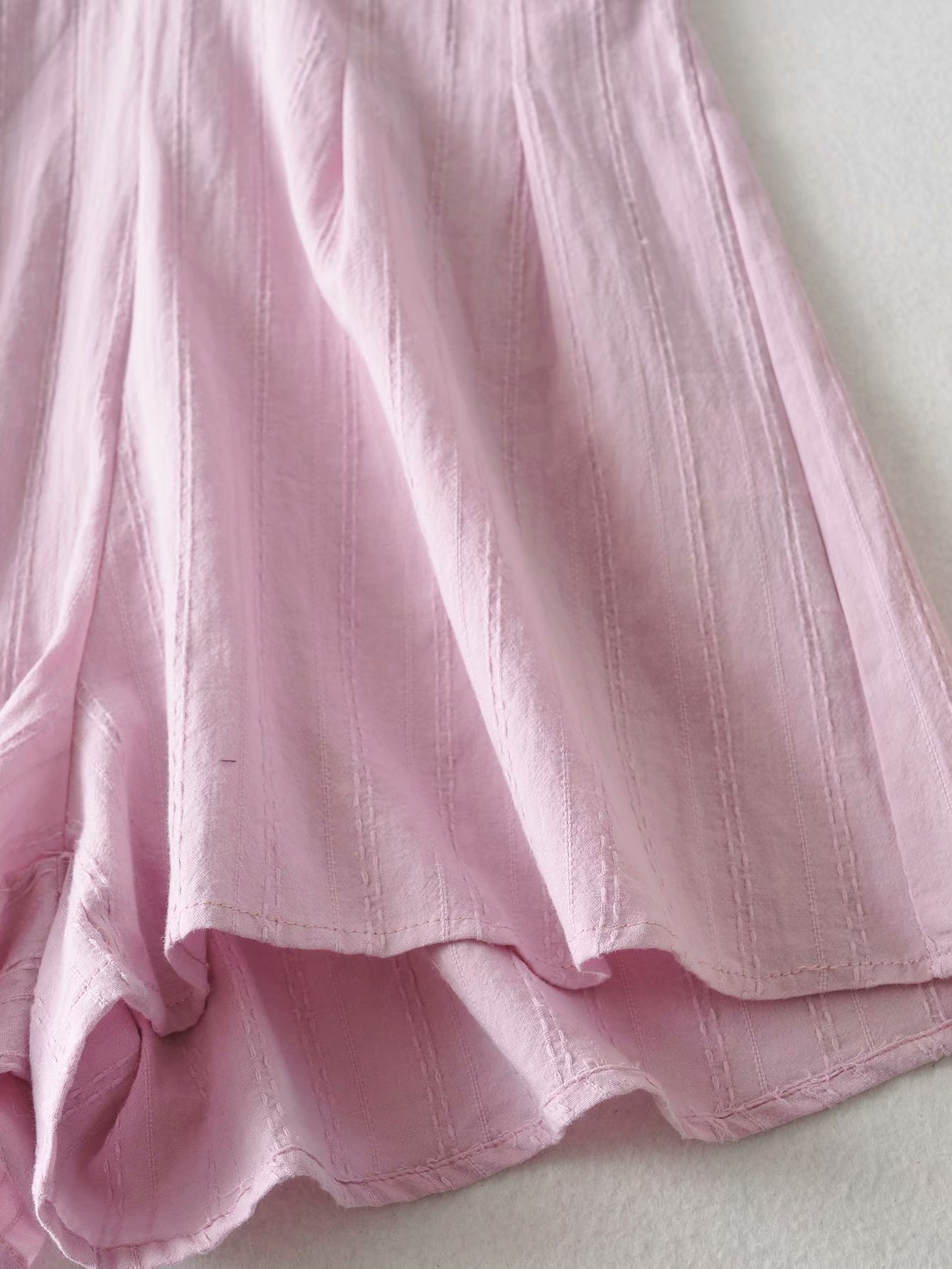 spring and summer new women's high waist short sleeve V-neck jacquard piece wide leg shorts wholesale nihaojewelry NHAM219679