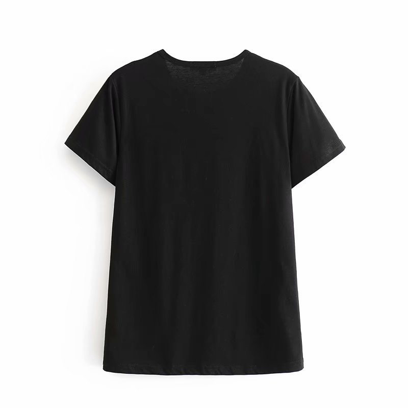 Wholesale new fashion characters letter printed short sleeve round neck T-shirt NHAM211148