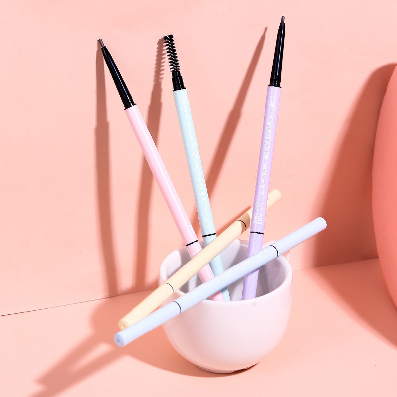 Eyebrow fine core small eyebrow pencil long lasting waterproof, non-removing make-up and anti-smudge girly double-headed eyebrow pencil make-up DCH374 thumbnail
