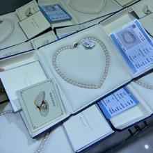 母亲节活动淡水珍珠项链送妈妈送领导正圆强光送证书礼盒银扣
