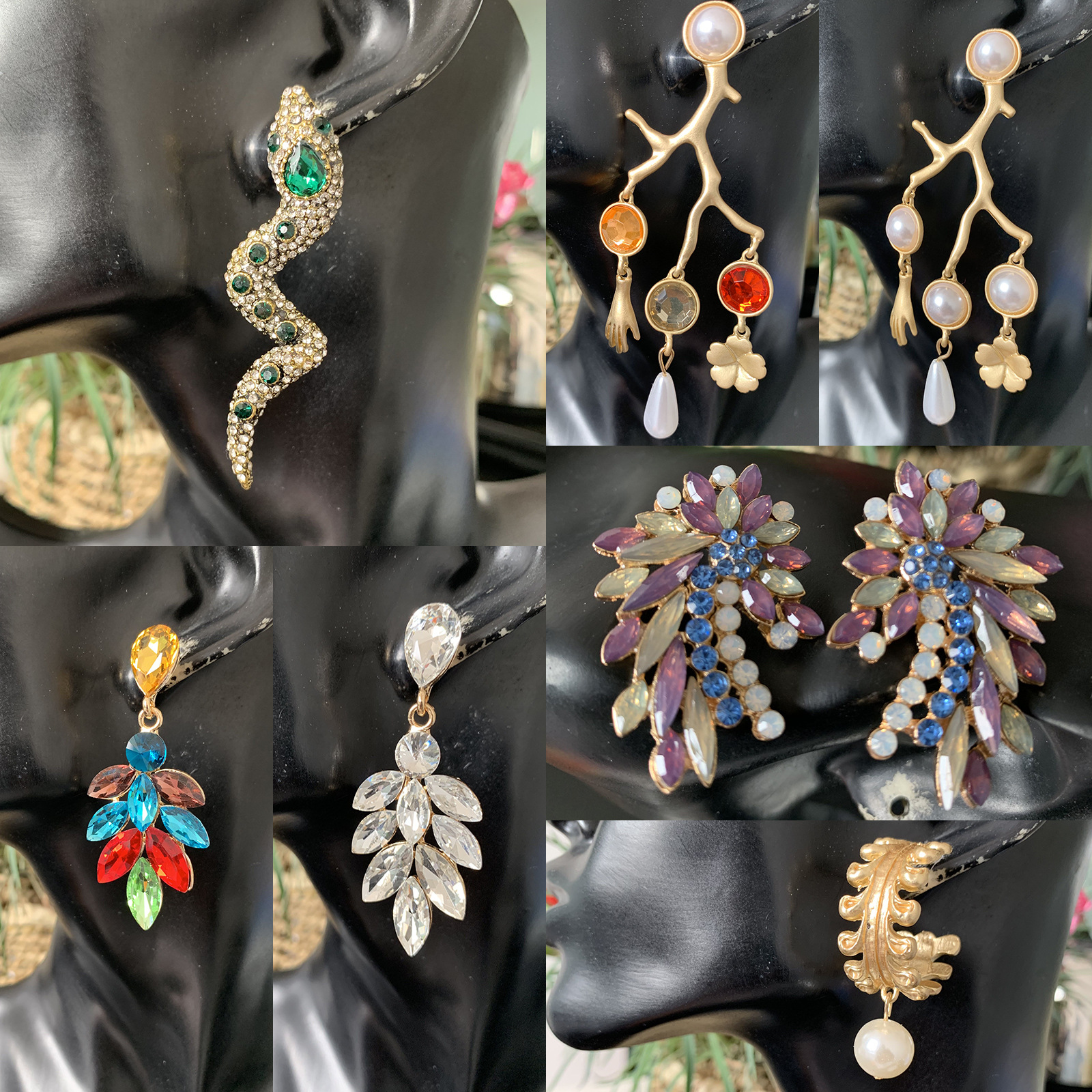 Earrings New Exaggerated Series Multiple Earrings wholesales yiwu suppliers china NHJJ203634