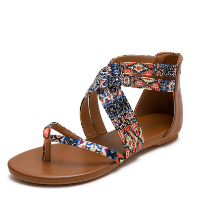 Bohemian sandals Asian nation Roman versatile flat shoes