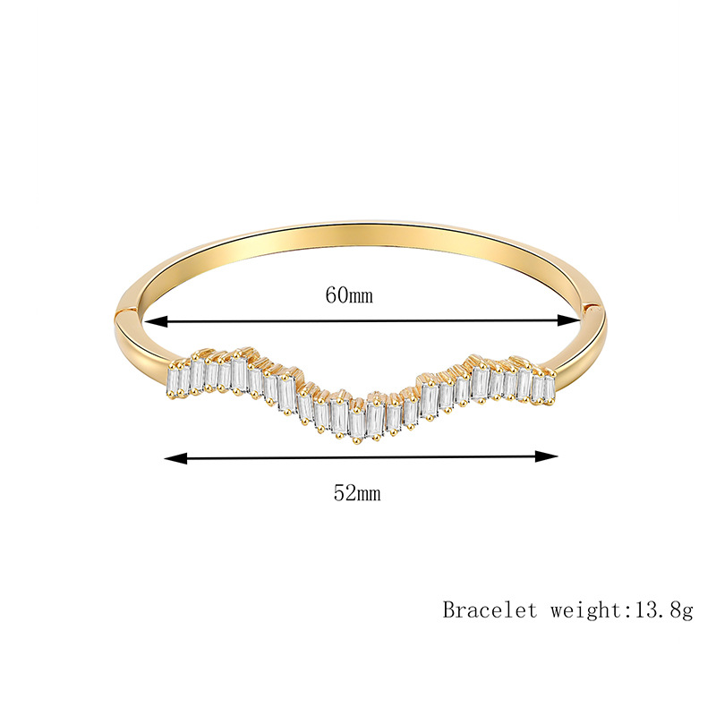 Jewelry alloy micro-inlaid bracelet simple student department girlfriends bracelet jewelry NHXS205846