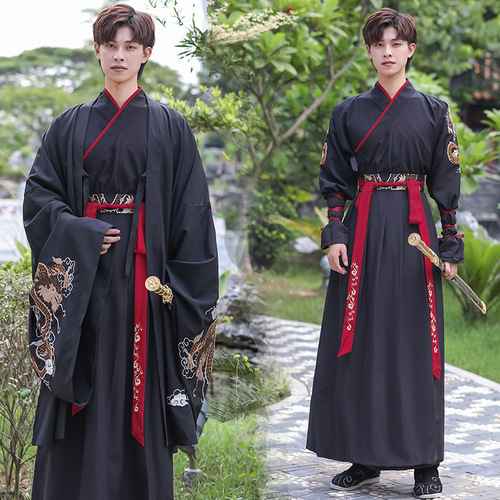 Chinese Hanfu male ancient martial arts swordsman warrior cosplay robe men chinese traditional folk costumes anime drama performance photos shooting prince gown