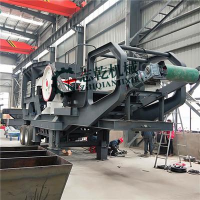建筑垃圾处理设备 鄂式破碎机 车载轮式移动制砂机 花岗岩制沙机