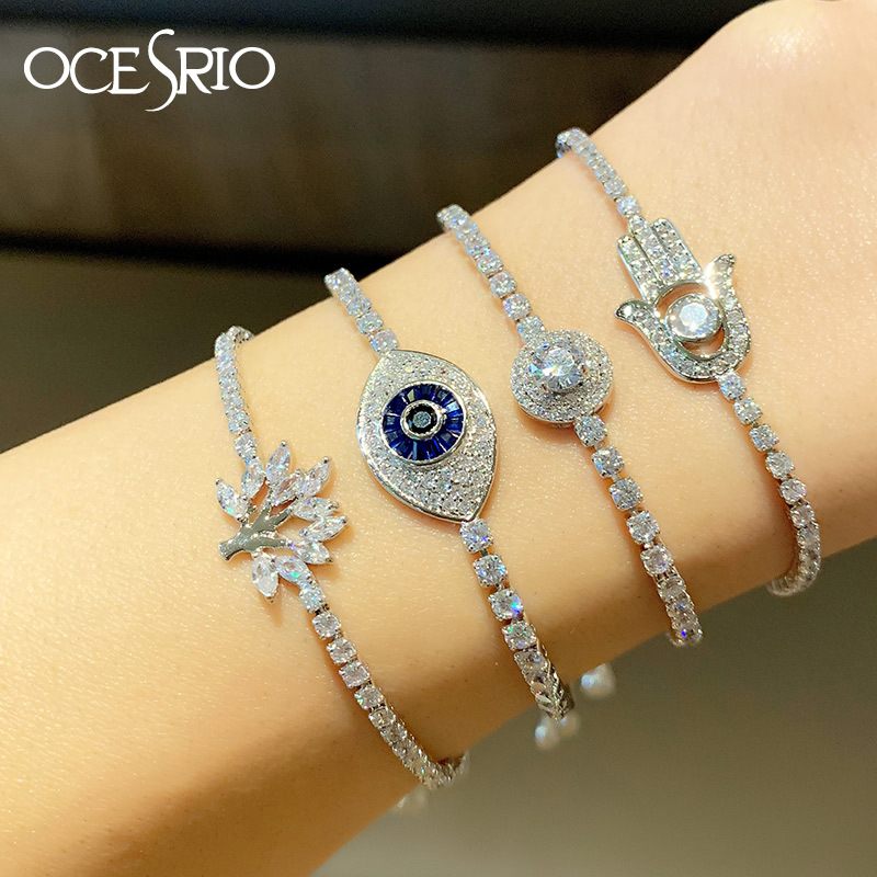 New Classic Retro Bracelet Eye Tree of Life Adjustable Zircon Bracelet NHAS195377