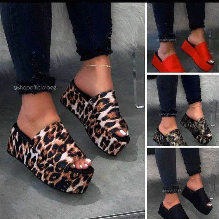 2020 summer new foreign trade women's shoes Europe and the United States large cross-border exclusive pop-up slippers, muffins and fish mouth cool drag women