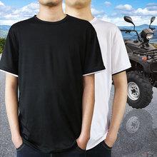 男裝T恤夏款青少年中老年圓領衫大碼男士服裝短袖T恤運動服