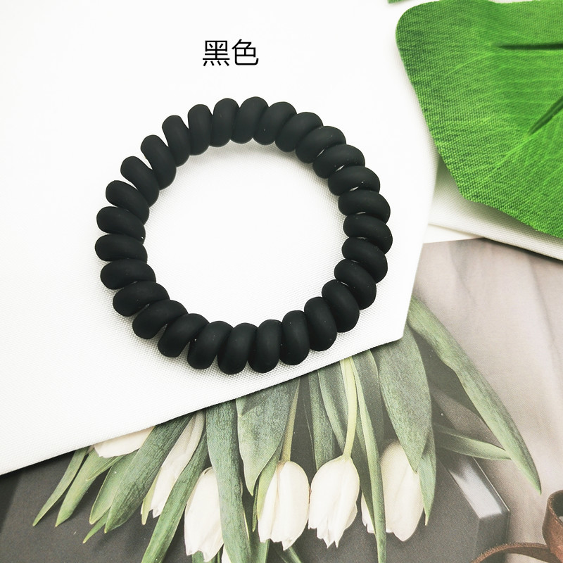 simple frosted telephone line hair ring NHDM338883