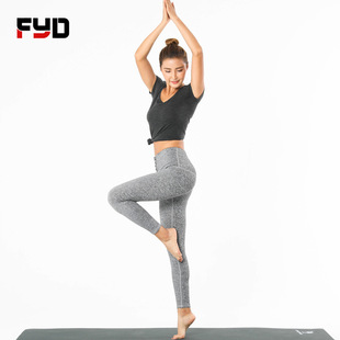 Yujian spring and summer new high-waist lace-up yoga pants women's quick-drying high-waist fitness pants sexy yoga pants