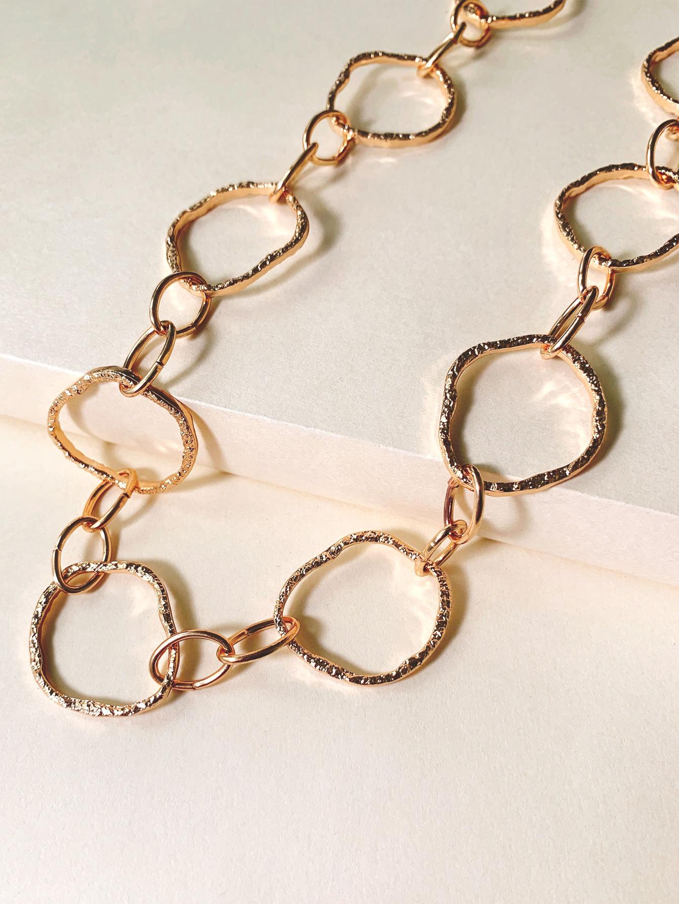 Korean geometric chain necklace niche fashion temperament sweater chain accessories wholesale nihaojewelry NHJJ222375