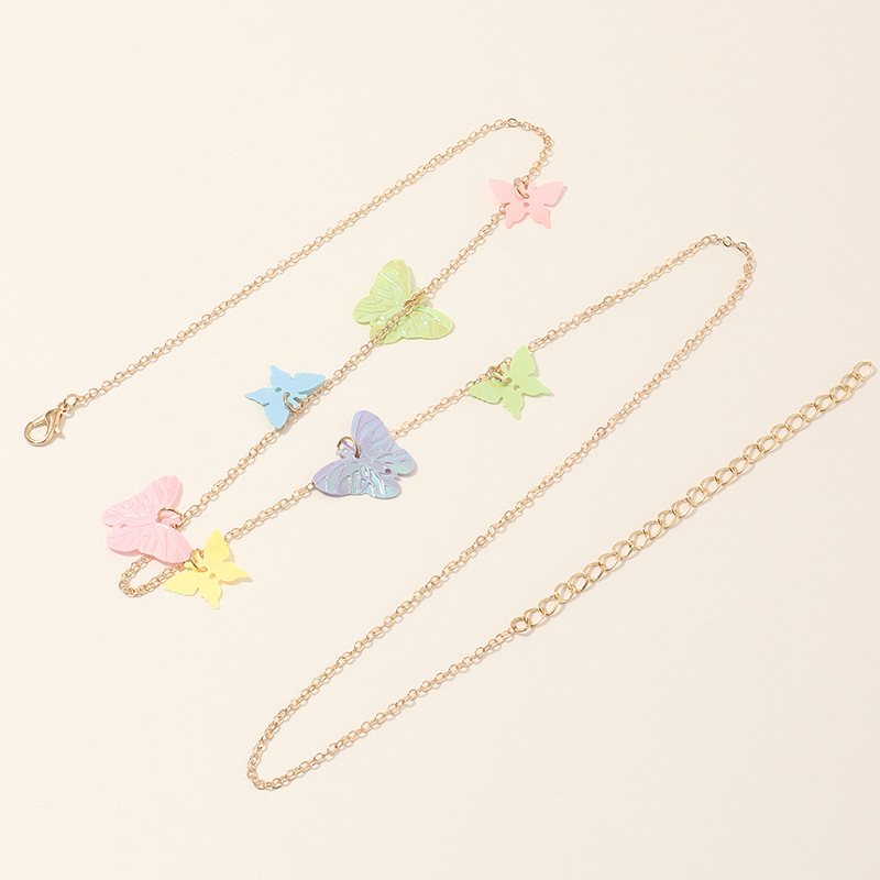 fashion jewelry creative sequins butterfly waist chain simple wild beach sexy body chain wholesale nihaojewelry NHNZ232043