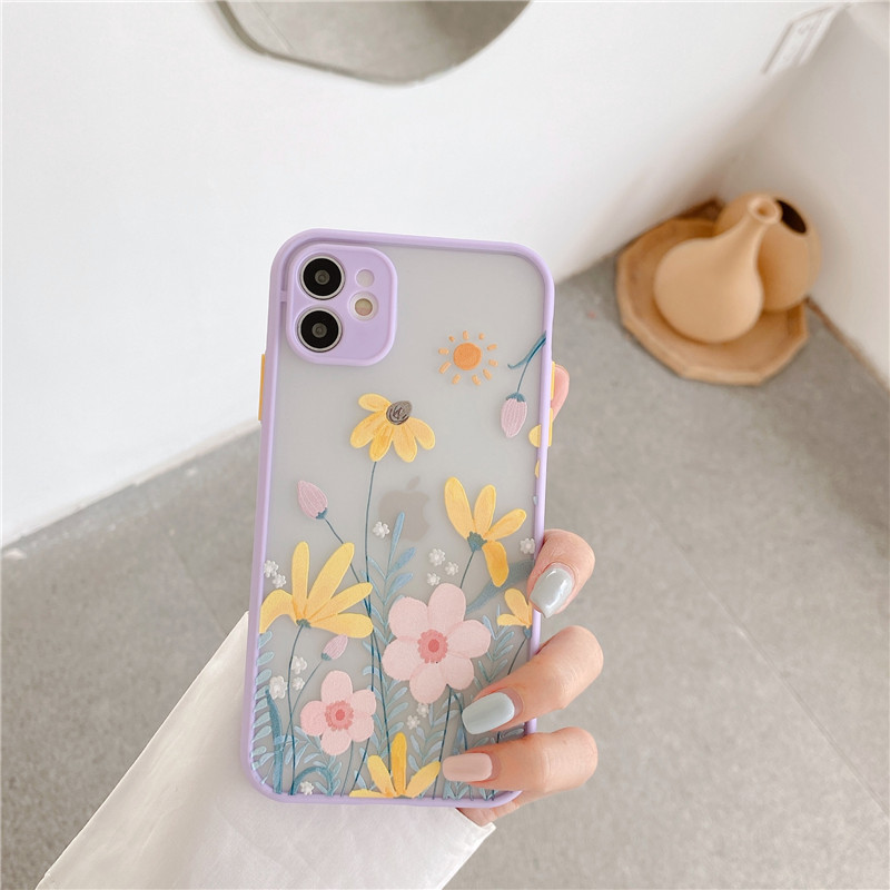 Illustration flowers suitable for 11Pro Max Apple X XS XR SE mobile phone case iPhone7p 8plus silicone NHFI262205
