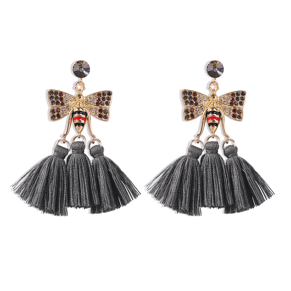 Bohemian Ethnic Style Tassel Earrings NHMD273737