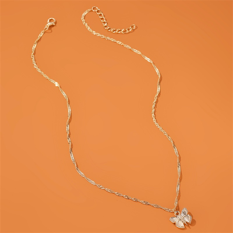 hot selling jewelry small fresh butterfly necklace temperament simple necklace nihaojewelry wholesale NHDP215305
