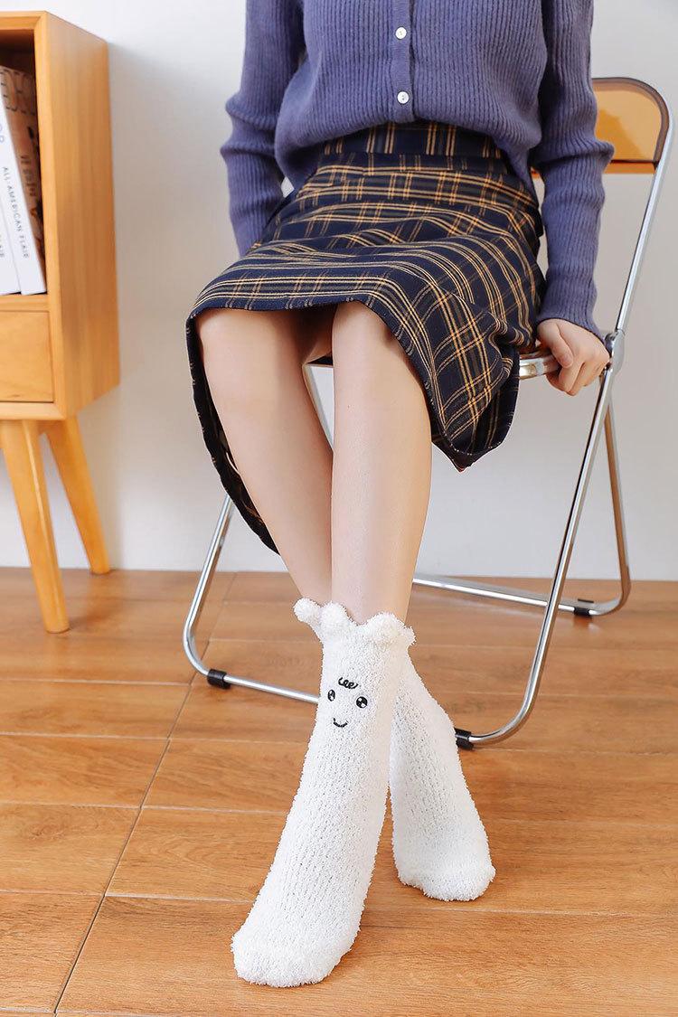 non-slip coral velvet warm socks  NSFN9344