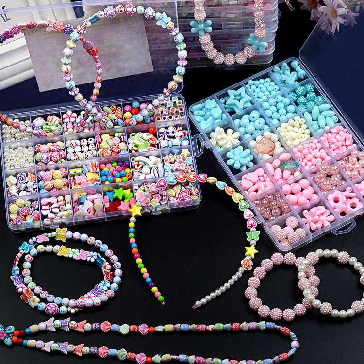 24格亚克力串珠儿童串珠玩具diy手工制作女孩绕珠穿项链手链益智