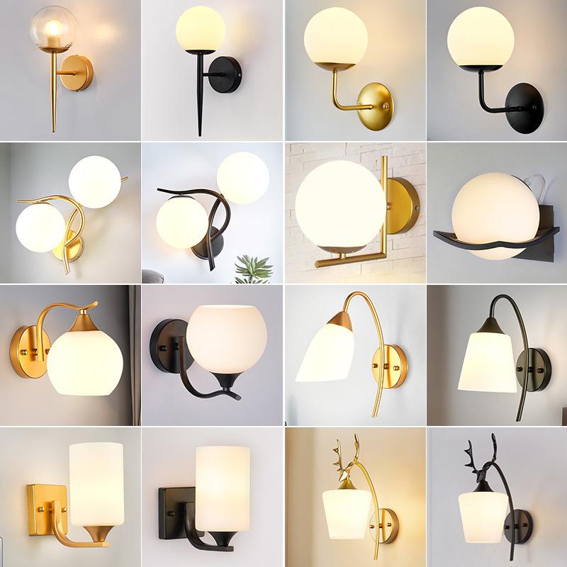 美式壁灯卧室房间床头灯客厅大厅简约风格家居酒店客房北欧灯具