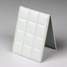 工厂订制热销创意家居用品兰色仿羊纹长方形折叠化妆镜包