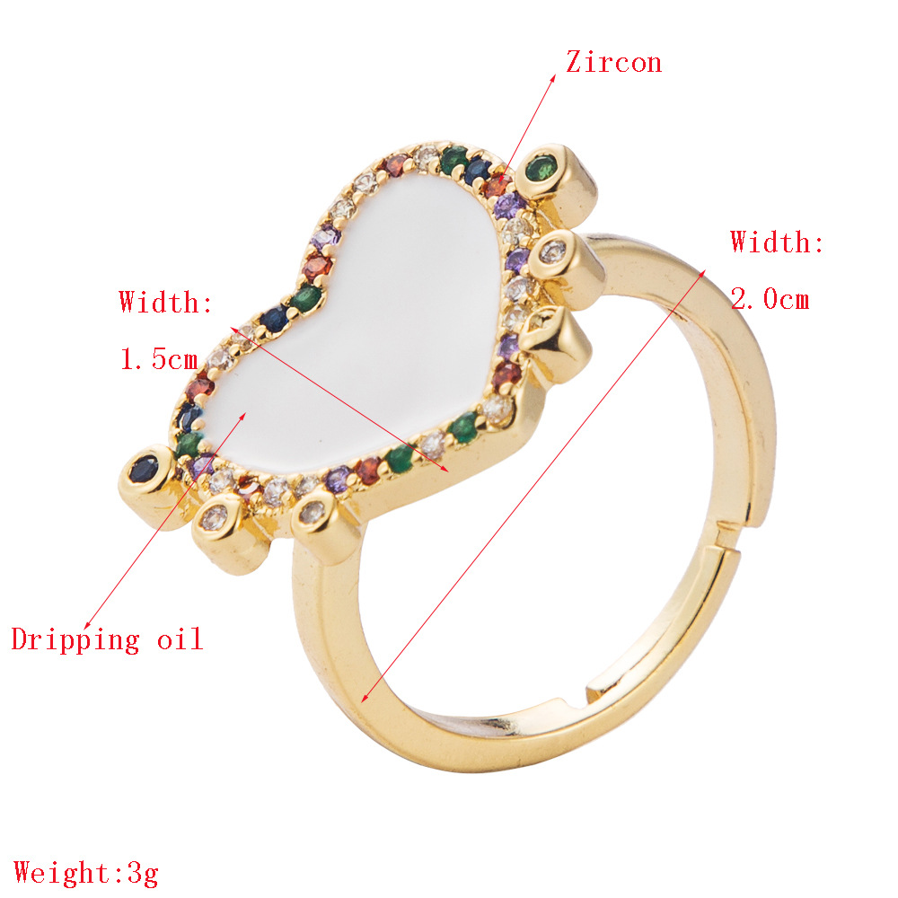 New creative gold-plated ring color geometric opening hip-hop ring wholesale NHLN201149