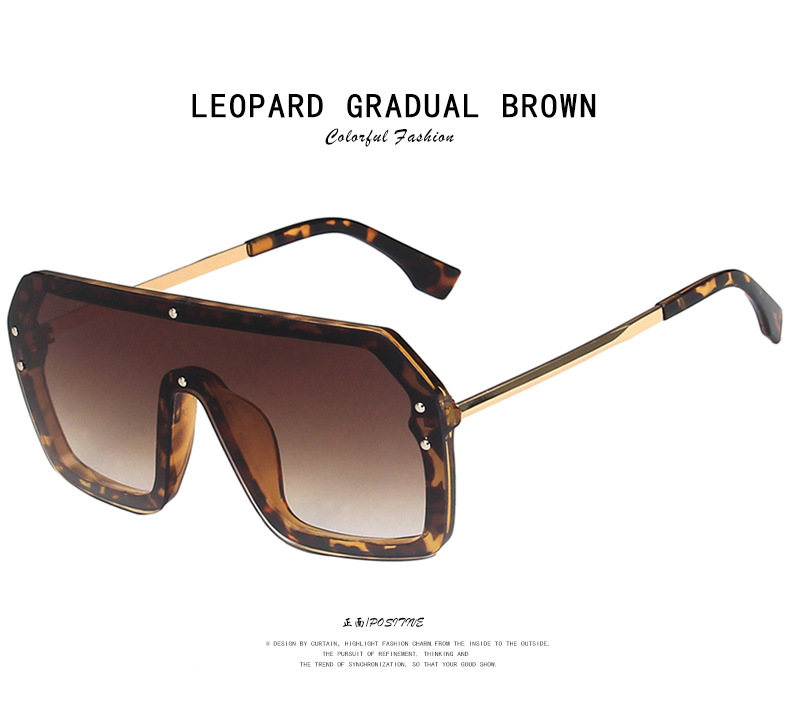 F letter one-piece metal large fashion all-match sunglasses  NHKD262130