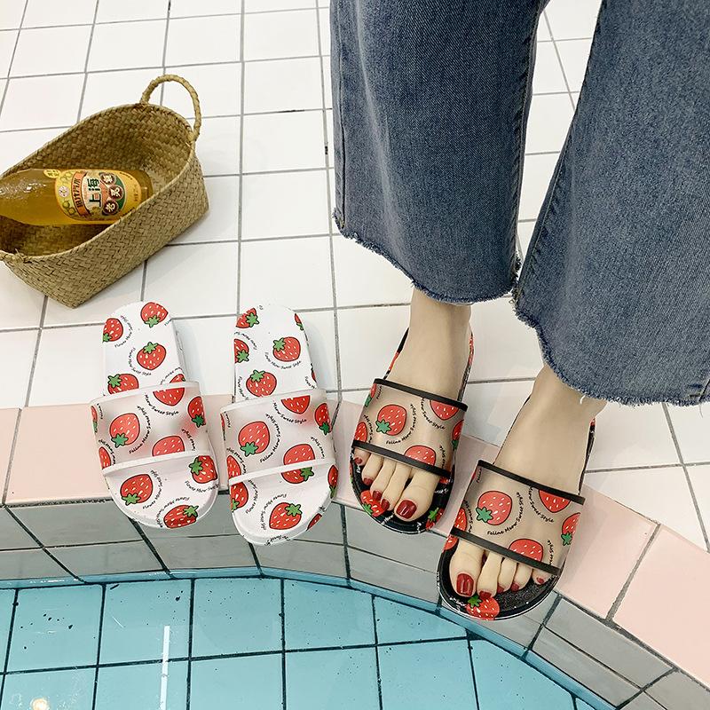 2020新款凉拖鞋女港风外穿夏天可爱少女心水果草莓ins居家女凉鞋