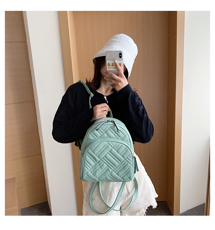 new fashion simple style  backpack messenger bag wild embroidery thread backpack nihaojewelry wholesale NHTC231612