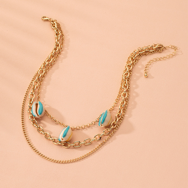 hot-selling bohemian style colorful necklace ocean shell necklace necklace wholesale nihaojewelry NHAI240592