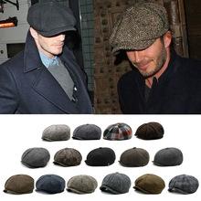 秋冬保暖毛呢八角帽大码报童帽贝雷帽大头围鸭舌帽户外男女画家帽