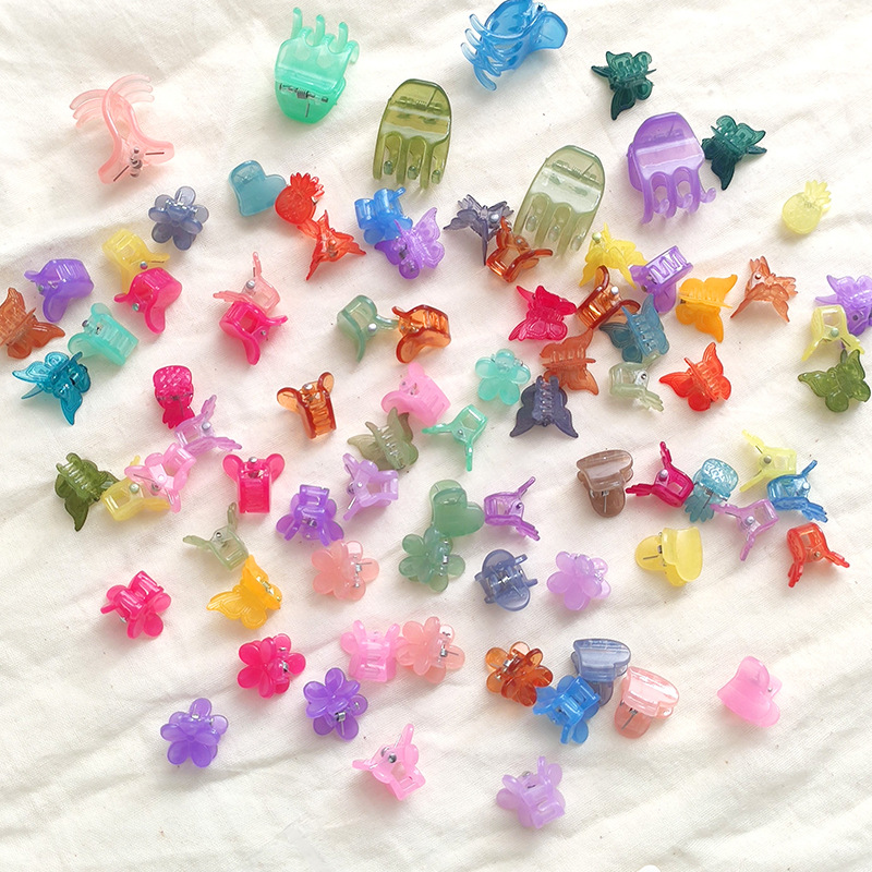 Childrens  sweet candy color princess small catch clip mixed color mini hair clip set  NHNU243398