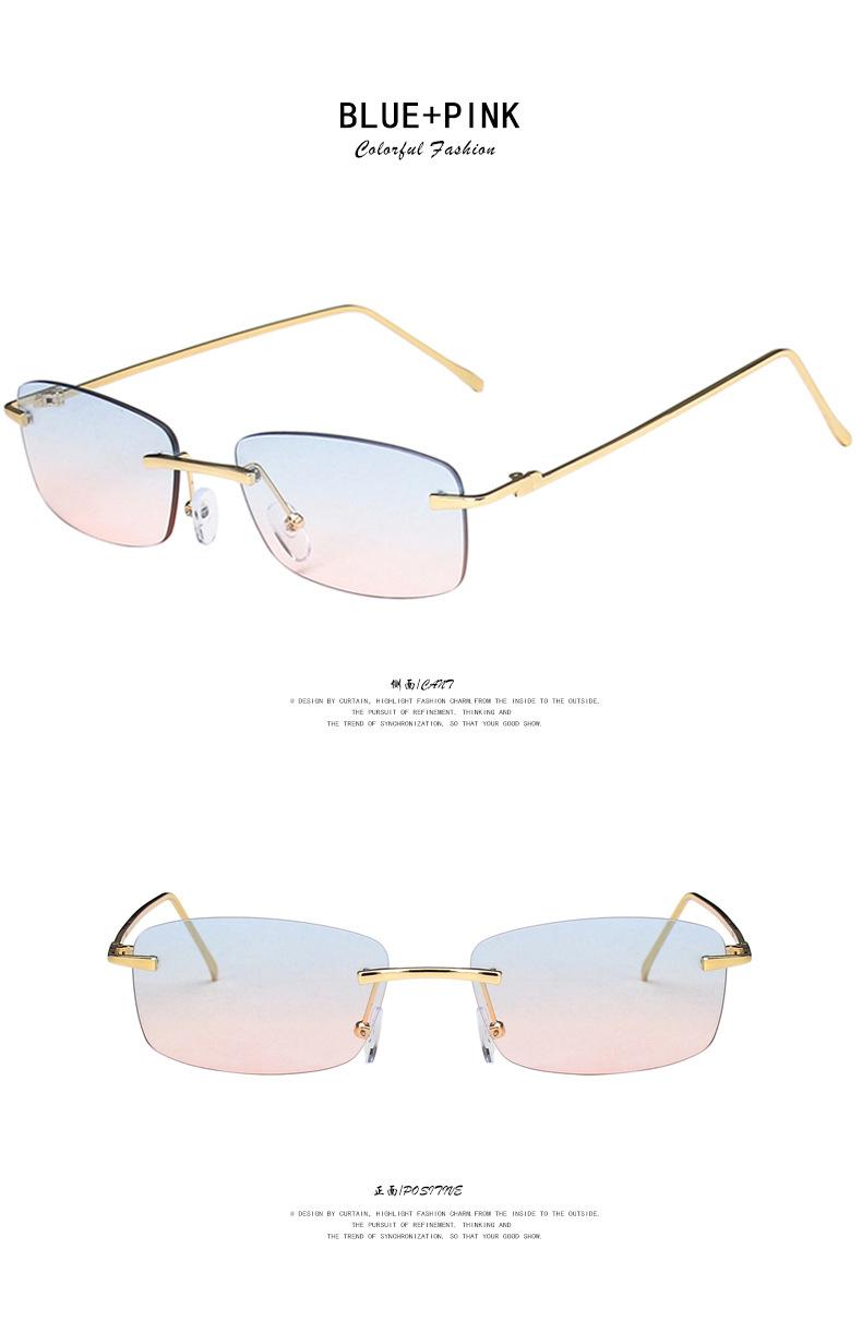 Frameless retro square sunglasses NHKD302188