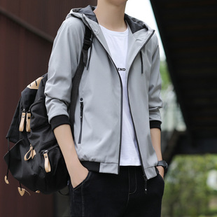 Men's jacket spring and autumn 2021 new clothes Korean version of the trend of self-cultivation jacket casual men's jacket men