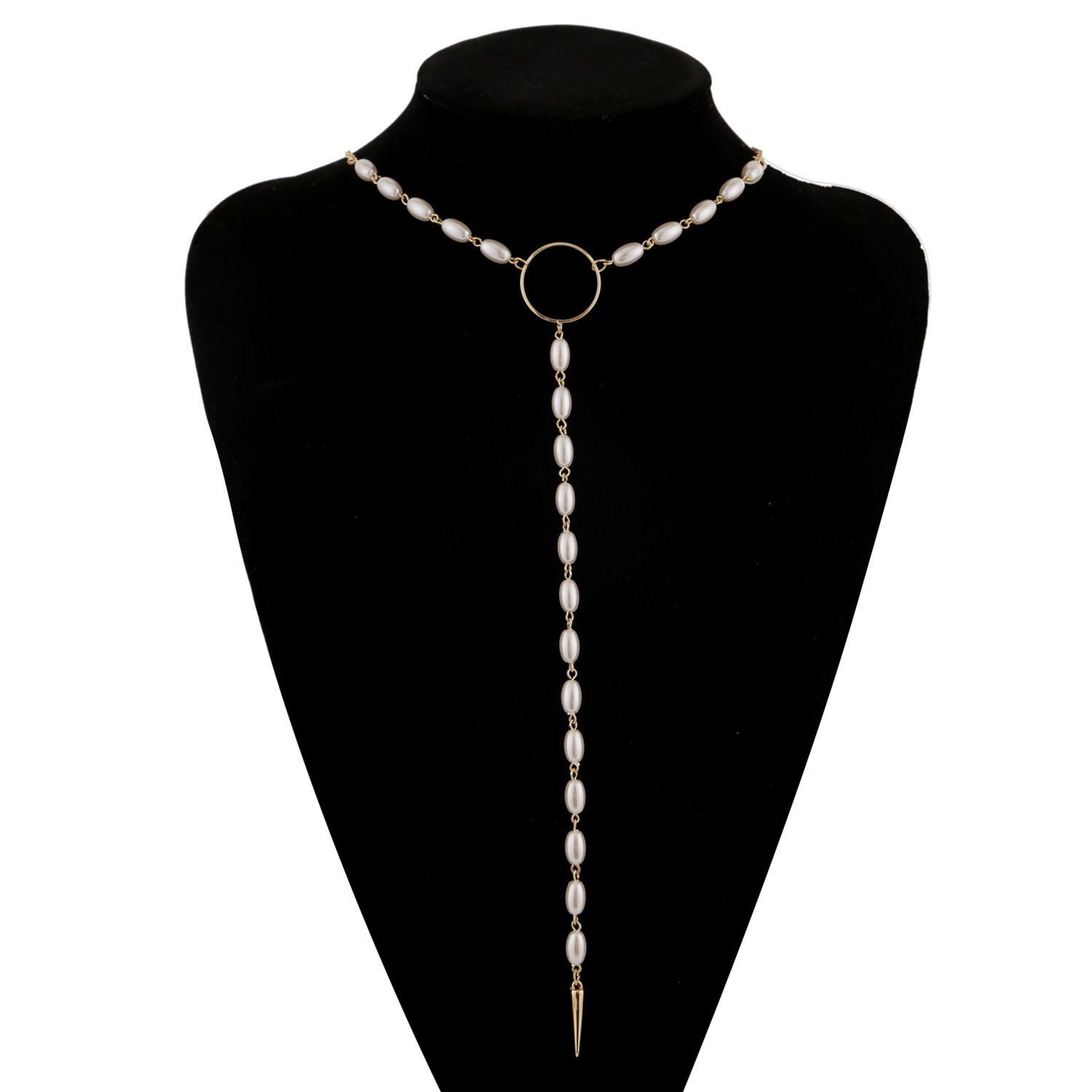 Korean new fashion pearl necklace pendant clavicle chain for women wholesale NHJJ204705