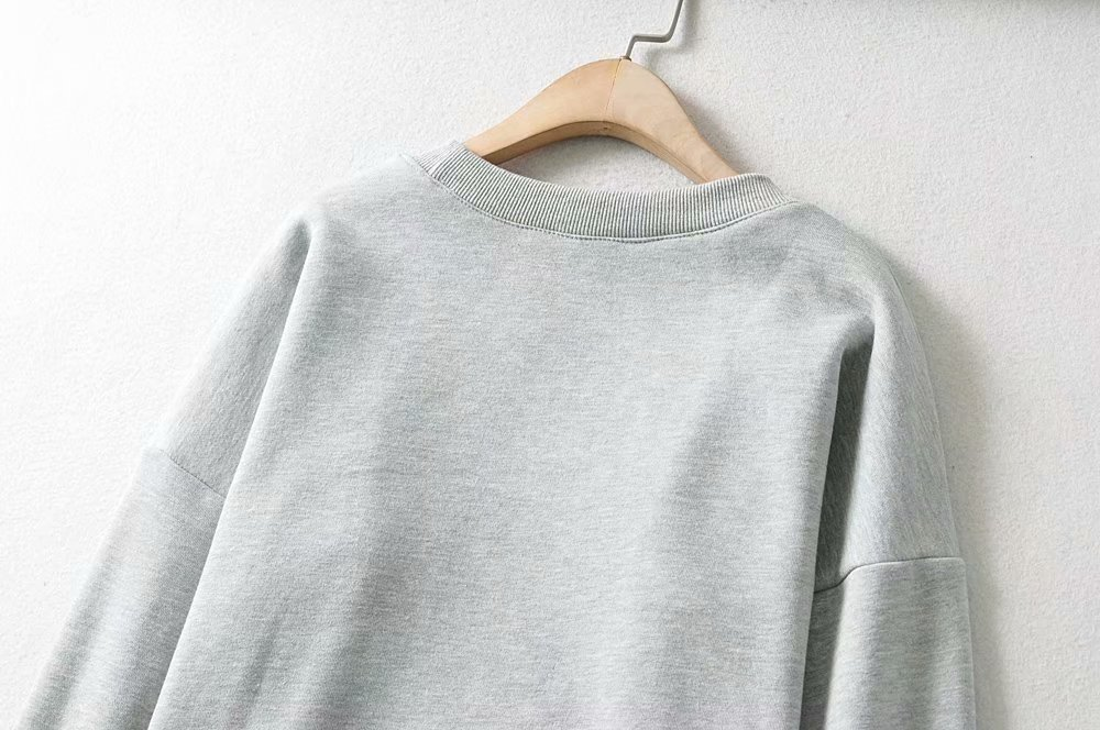 new loose French round neck long sleeves plus fluffy sweater  NHAM272021