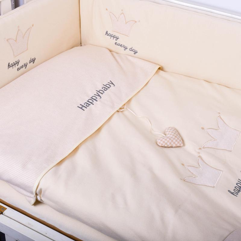 婴儿床围可定做宝宝套件防撞栏彩棉四件套可拆洗新生儿纯棉床品套