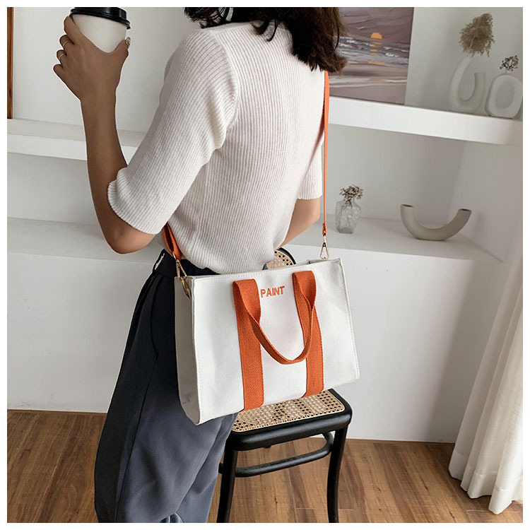 new trendy all-match casual canvas messenger summer fashion tote large capacity women's bags  NHJZ242767