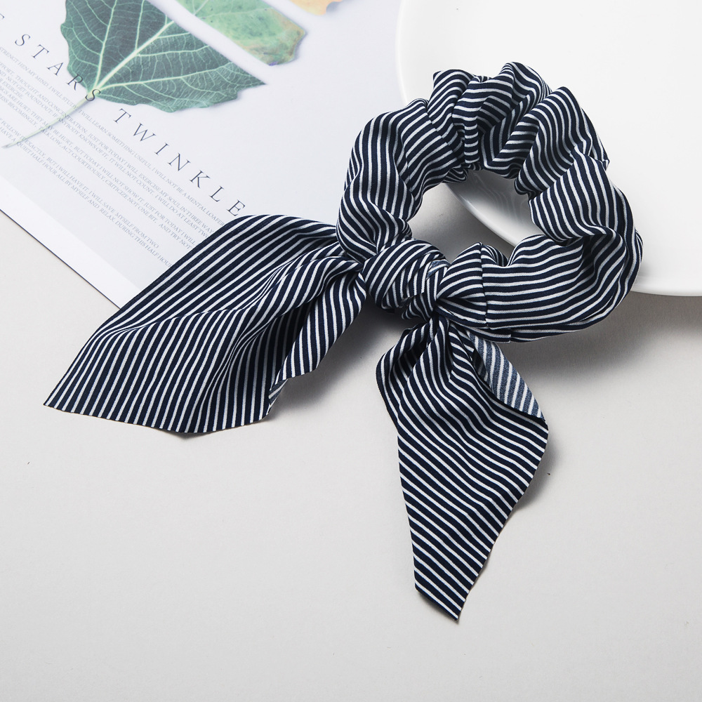 New fashion wipes hair rope stripe headband bow fabric cheap head rope wholesale NHLN205800