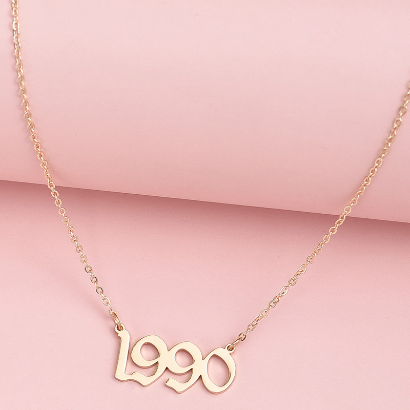 Womens personality simple letter necklace  NHAJ261104