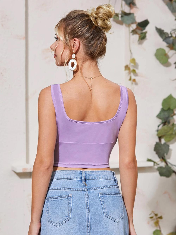 summer new short women's tight-fitting inner base shirt sexy halter camisole  NSDF2151