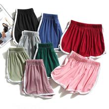 运动短裤女夏季2020休闲外穿三分裤韩版时尚瑜伽沙滩裤糖果色热裤