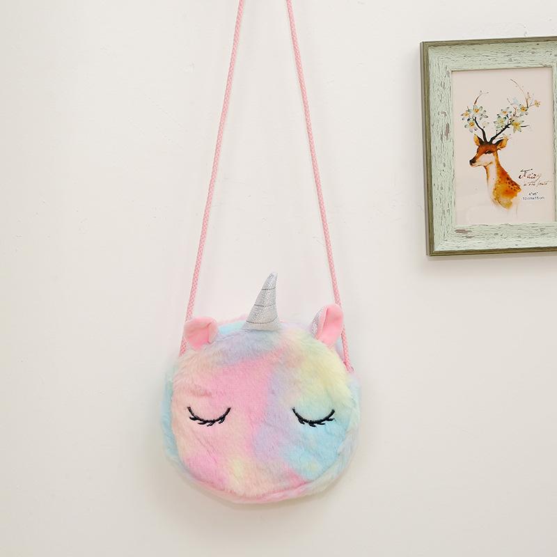 cute plush unicorn messenger bag wholesale NHAE269808